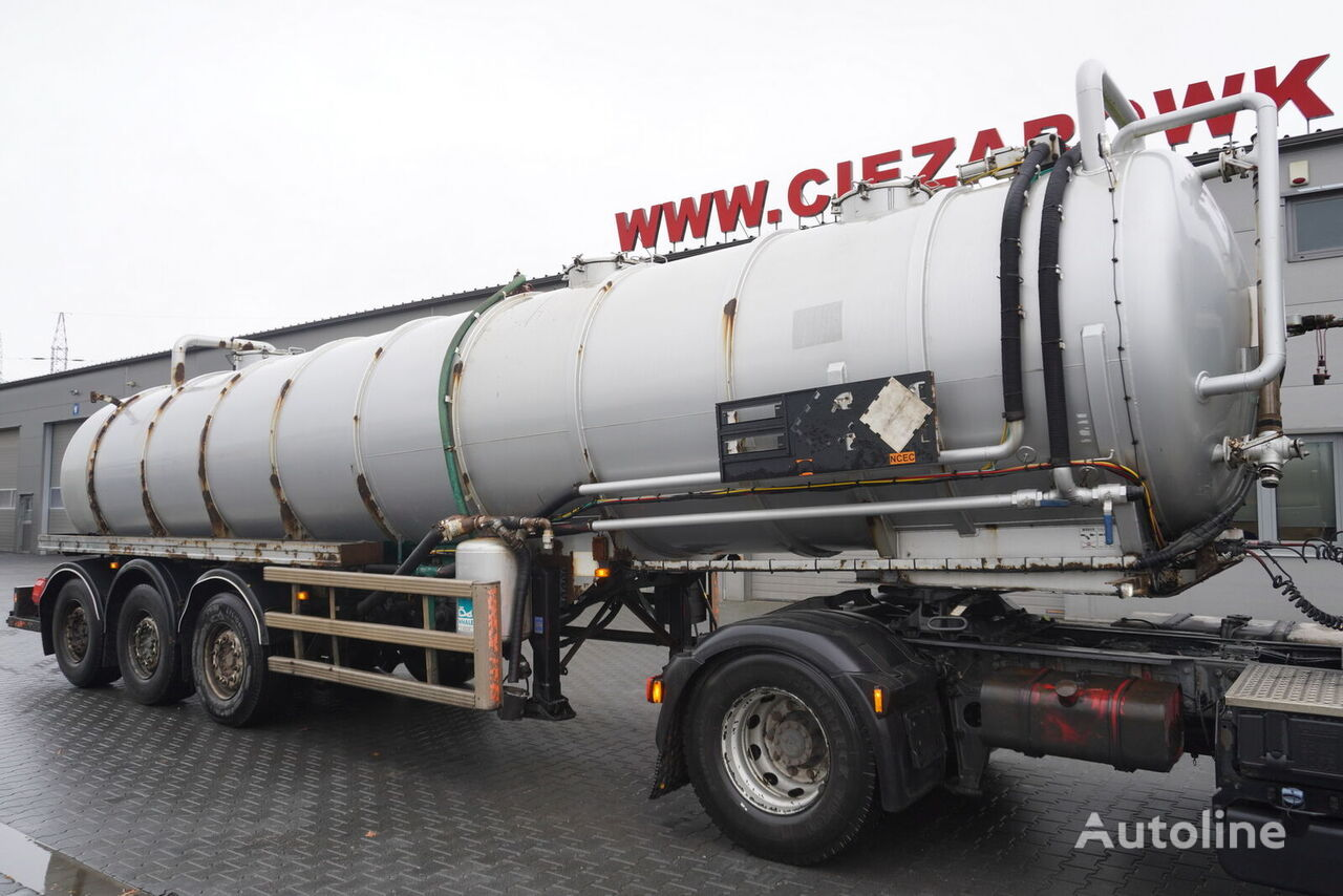 Whale Tankers S.S VAC , ADR  chemical tank trailer