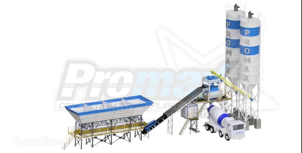 new PROMAX Compact Concrete Batching Plant PROMAX C100-TWN-L (100m3/h) concrete plant