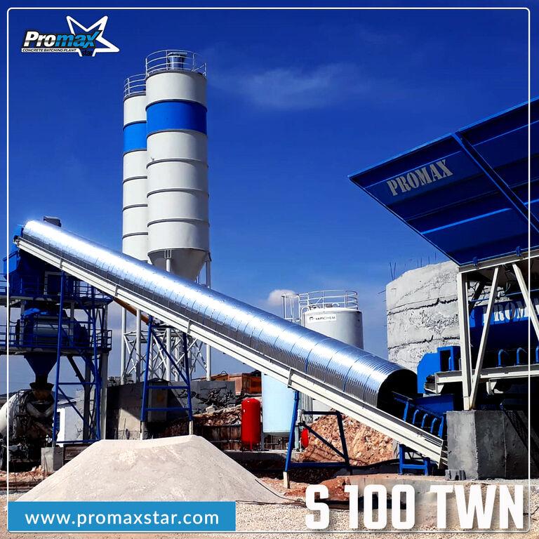 new PROMAX S100-TWN (100m/h)  STATIONARY Concrete Batching Plant  concrete plant