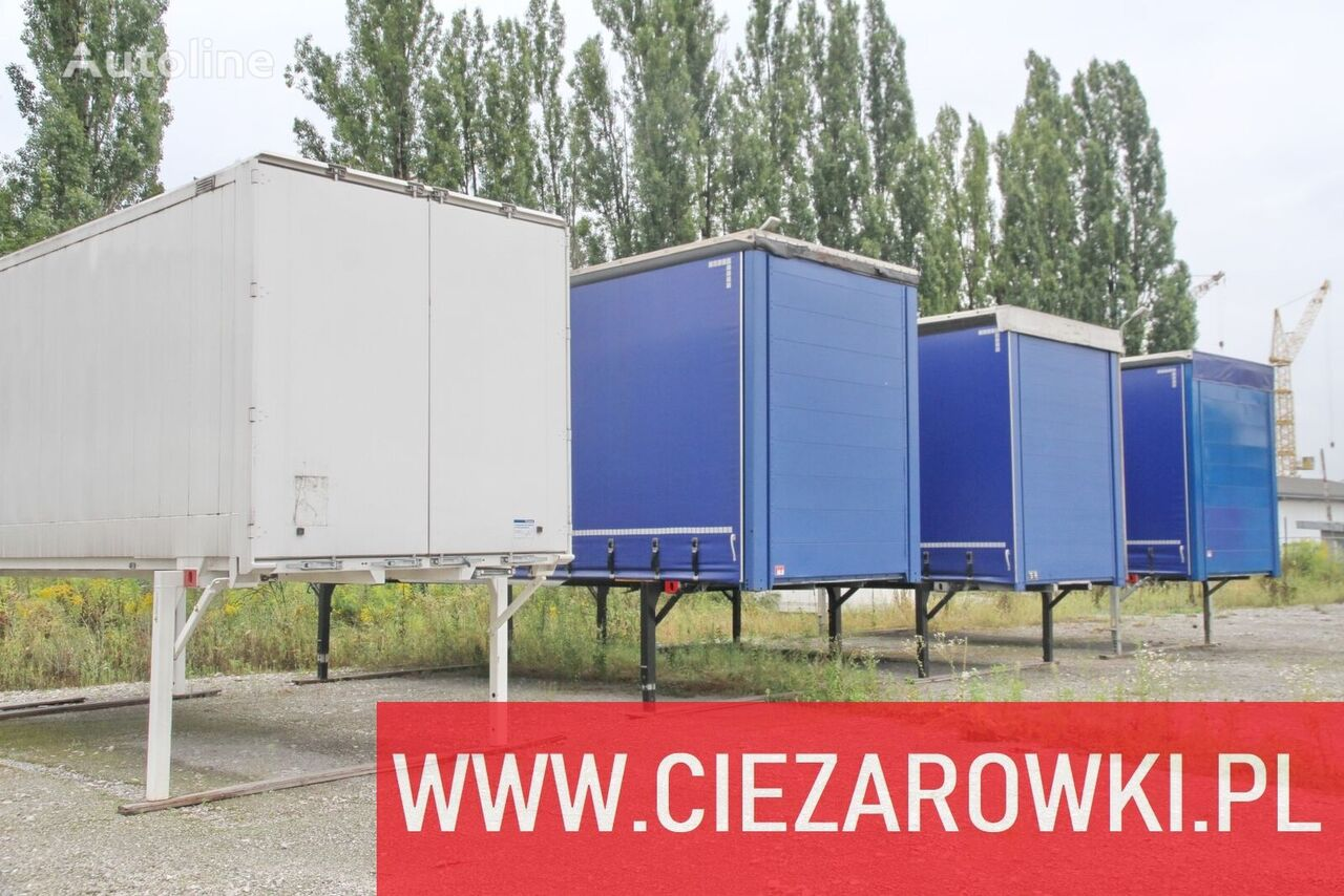 bodies , tarpulin , container , clothes transport  Low deck swap body - box