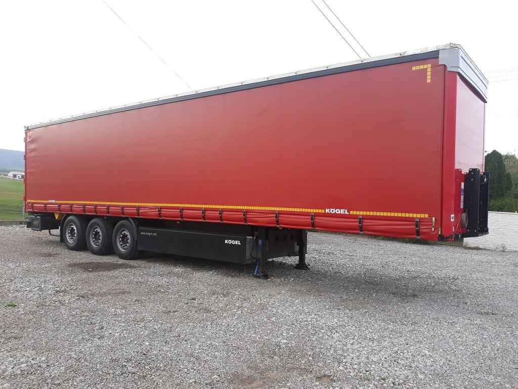 KÖGEL Standard SAF Tarcze Oś podnoszona Dach podnoszony Rok 2015  Prze curtain side semi-trailer
