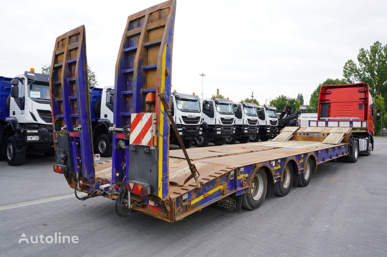 KING GTS60 , 3 axle , 9,30 x 3,35m , stretched ,load 48t  low bed semi-trailer