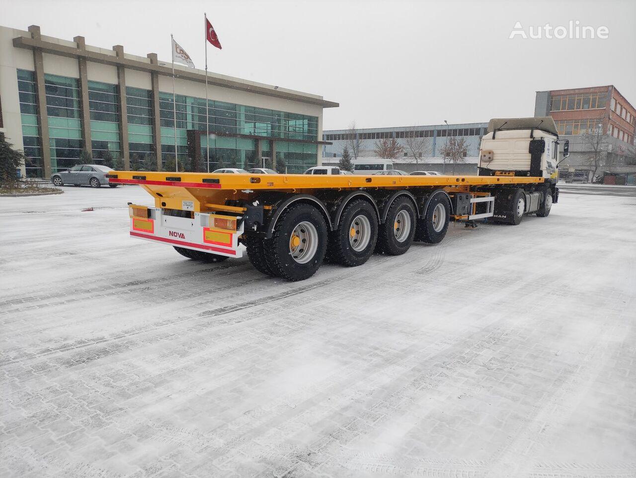 new NOVA NEW FLATBED TRAILER 4 AXLE PRODUCTION platform semi-trailer