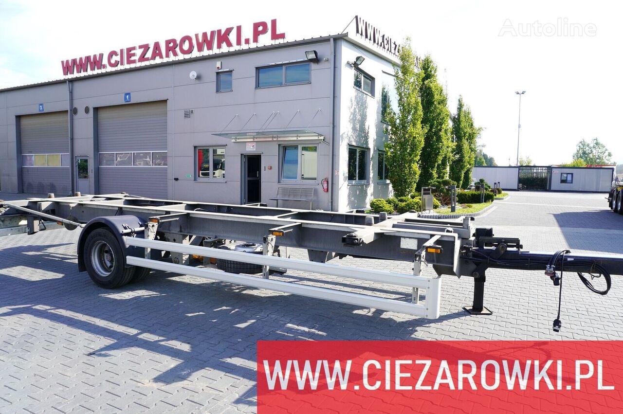 ACKERMANN Z-EAF 11/7 , BDF , chassis 7,2m , air suspension , BPW , 2 units chassis trailer