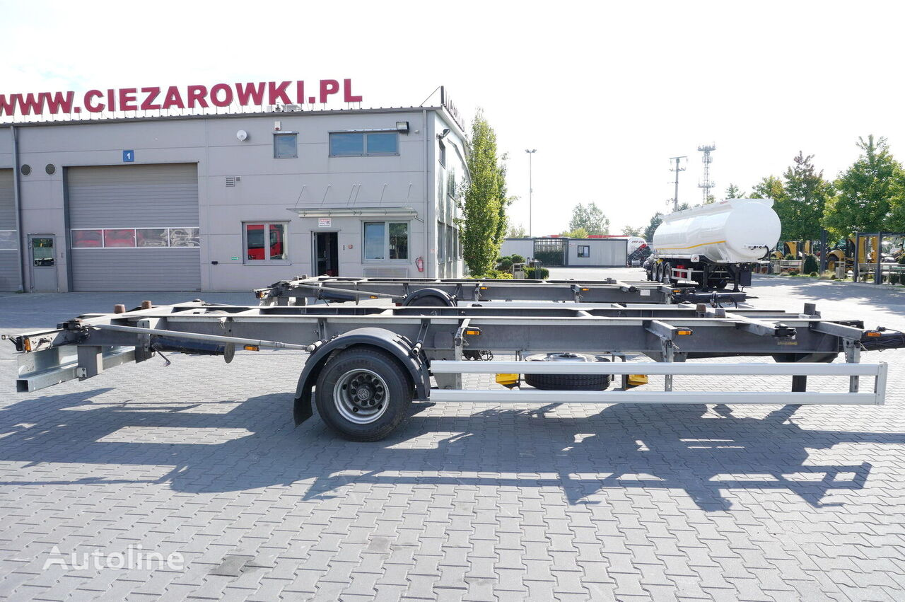 ACKERMANN Z-EAF 11/7 , BDF , chassis 7,2m , air suspension , BPW , 2 units container chassis trailer