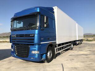 DAF XF 105.460 Y REMOLQUE KRONE box truck + closed box trailer