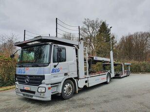 MERCEDES-BENZ Actros 1844 Austausch Motor ca 500000 car transporter + car transporter trailer