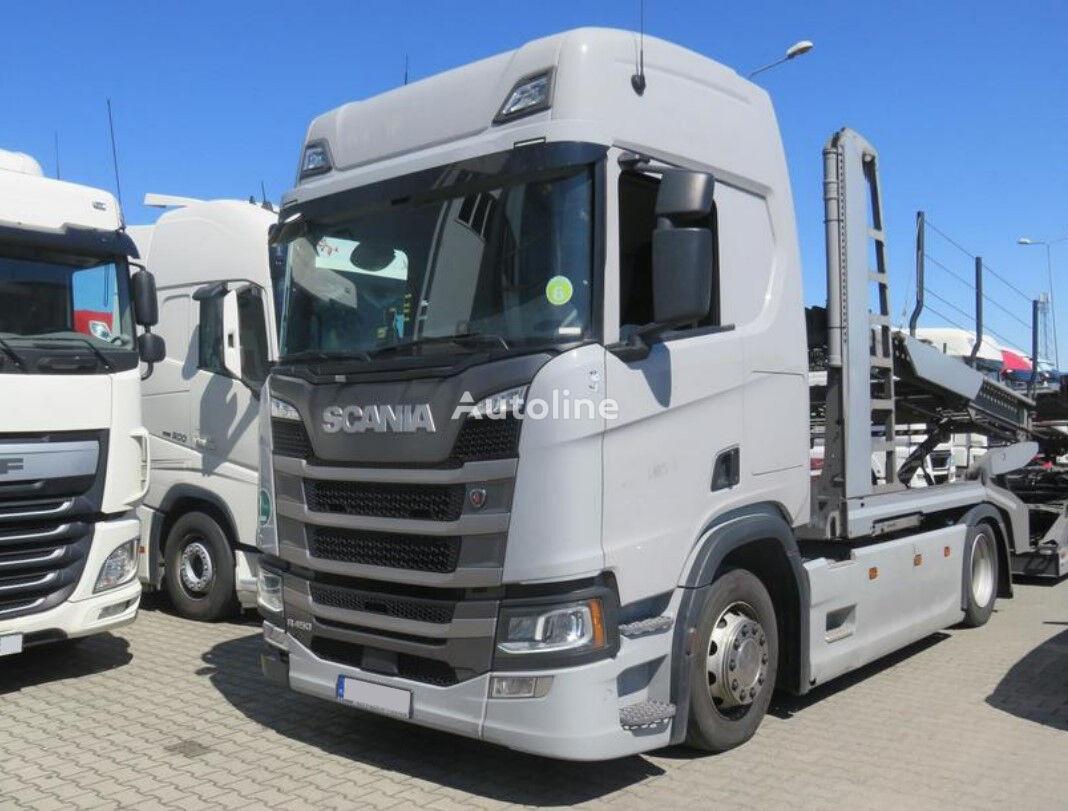 SCANIA R450 , E6 , 4x2 , Low Deck, EuroLohr , LIKE NEW  car transporter + car transporter trailer