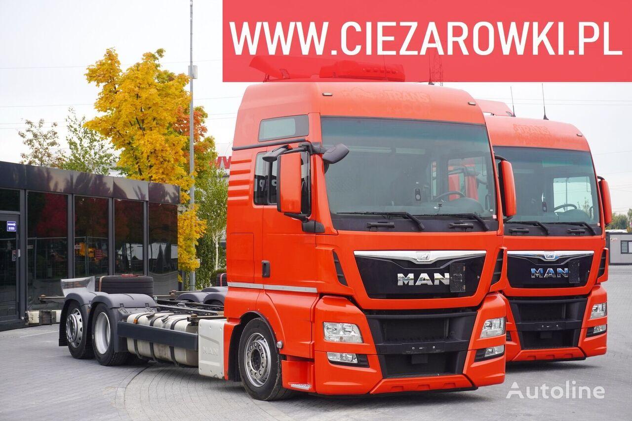 MAN TGX 26.440 , E6 , 6x2 , Low deck MEGA , cab XXL , chassis 7,4m , chassis truck