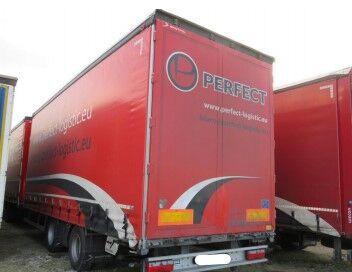 SCANIA R370 curtainsider truck + curtain side trailer