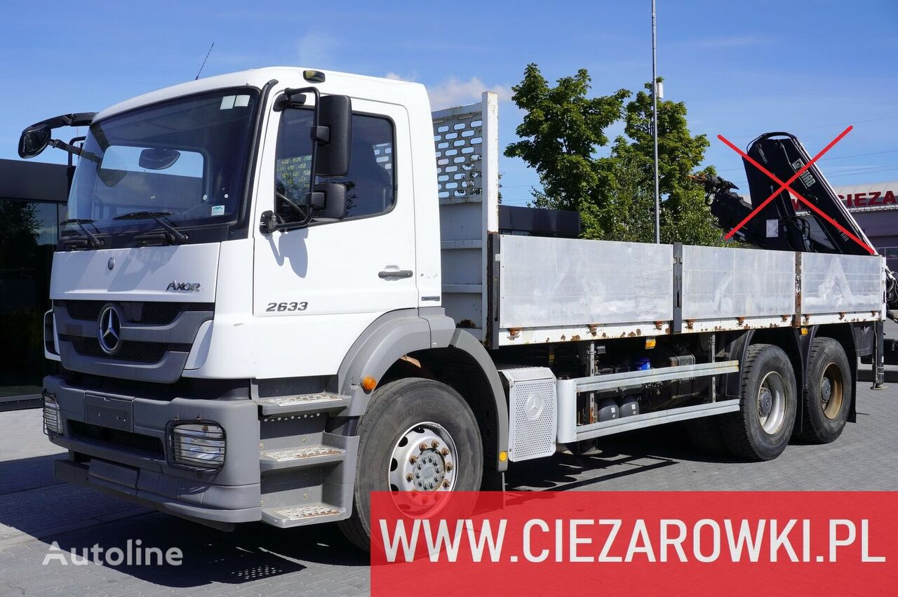 MERCEDES-BENZ AXOR 2633 , E5 , 6x4 , box 6,5m , manual , low mileage flatbed truck