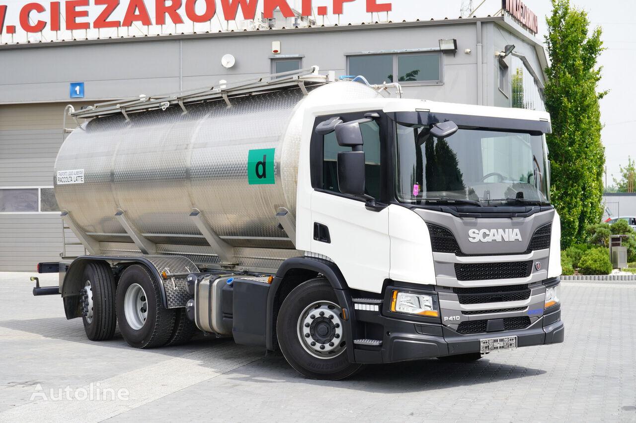 SCANIA P410 , E6 , 6X2 , 20.000km ! ! ! , 2 units , steer/lift axle , 3 milk tanker