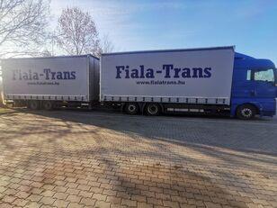 MAN TGX 26.440 tilt truck + tilt trailer