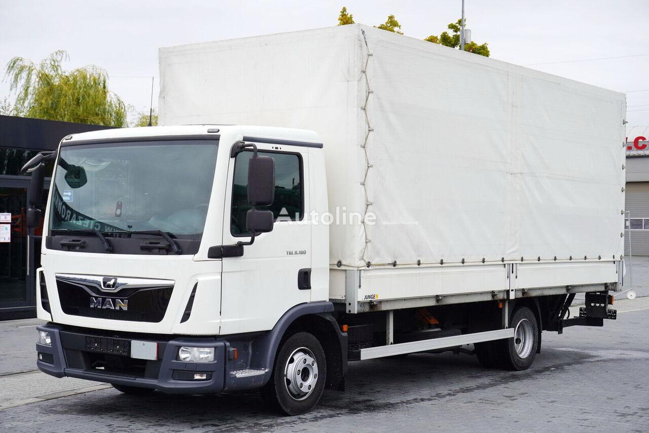 MAN TGL 8.180 , E6 , 4X2 , 90.000km , tail lift 1.000kg , pmv 7,500k tilt truck