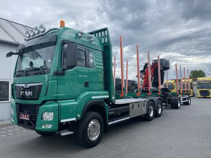 MAN TGS 33.500 timber truck + timber trailer